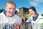 GRAVES: Mercy Mounthawk students, Daragh Creagh and Katie Healy who helped in the clean up of St John's Graveyard in Tralee on Thursday last.   Copyright Kerry's Eye 2008