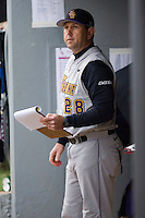 Head coach Billy Godwin (28) of the East Carolina Pirates at Sarge Frye Field in Columbia, SC, Sunday, February 24, 2008.