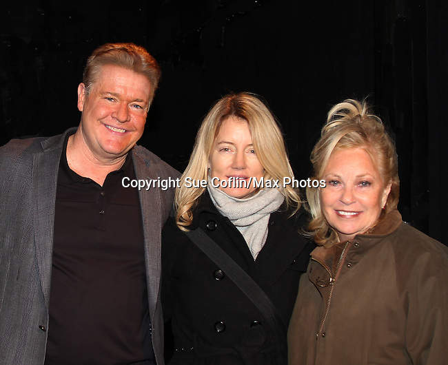 Michael O'Leary and Cynthia Watros and Tina Sloan star in Breathing Under Dirt - A New Play by Guiding Light's Michael O'Leary and directed by Larry Moss with an industry reading on January 24, 2017 at Cherry Lane Theater, New York City, New York. Starring Cynthia Watros, Tina Sloan, Robert Bogue, Alana Troxell, Katie Branden and Kisha Jackson. (Photo by Sue Coflin/Max Photos)
