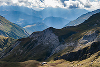 The view from the Col du Croix du Bonhomme, Mont Blanc, September 2007.