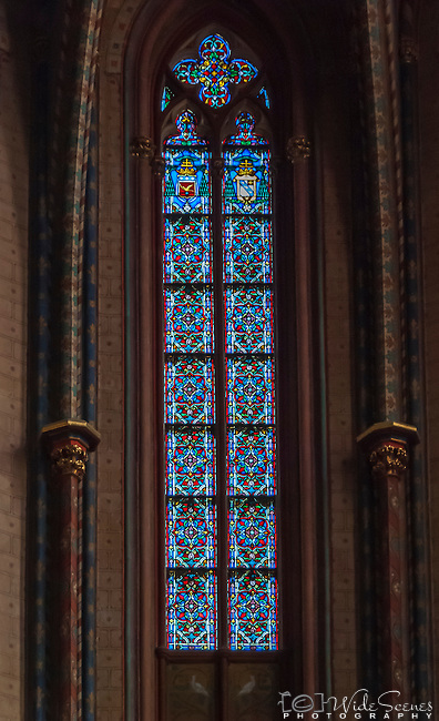 Lead light Windows of Saint Sauveur Cathedral in Aix-en-Provence, France