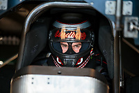 Jun 2, 2018; Joliet, IL, USA; NHRA funny car driver Jonnie Lindberg during qualifying for the Route 66 Nationals at Route 66 Raceway. Mandatory Credit: Mark J. Rebilas-USA TODAY Sports