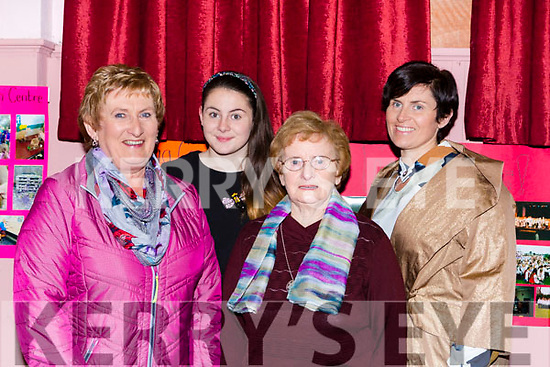 Four generations of models at the Friends of Chernobyl fashion show in Rathmore on Thursday night Mary Hickey, Maoimhe Moynihan, Bina Kerins and Karen Moynihan