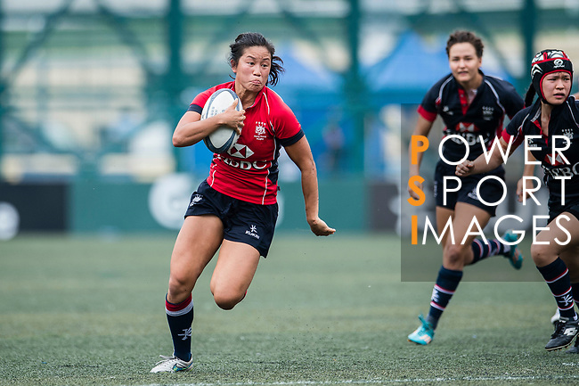Laurel Chor of Lions (L) in action during the Women's National Super Series 2017 on 13 May 2017, in Hong Kong Football Club, Hong Kong, China. Photo by Marcio Rodrigo Machado / Power Sport Images