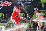 Gran Premi Monster Energy de Catalunya 2017.<br /> Moto GP Race.<br /> Andrea Dovizioso &amp; Dani Pedrosa.