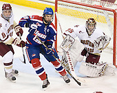 Edwin Shea (BC - 8), Patrick Cey (Lowell - 19), Parker Milner (BC - 35) - The Boston College Eagles defeated the visiting University of Massachusetts-Lowell River Hawks 5-3 (EN) on Saturday, January 22, 2011, at Conte Forum in Chestnut Hill, Massachusetts.