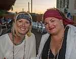 Kimberly Whittington and Michelle Majors during the Pirate Crawl held in downtown Reno on Saturday night, August 13, 2016.