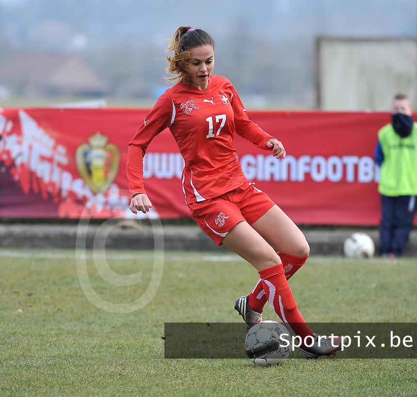 Switzerland U19 - Russia U19 : Switzerland number 17 Alessa Castignetti.foto DAVID CATRY / Nikonpro.be