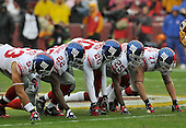 Landover, MD - November 30, 2008 -- New York Giants punt rushers Bryan Kehl (53), Reuben Droughns (22), Michael Johnson (20), R.W. McQuarters (25) and Dave Tollefson (71) in first quarter action against the Washington Redskins at FedEx Field in Landover, Maryland on Sunday, November 30, 2008..Credit: Ron Sachs / CNP.(RESTRICTION: No New York Metro or other Newspapers within a 75 mile radius of New York City)