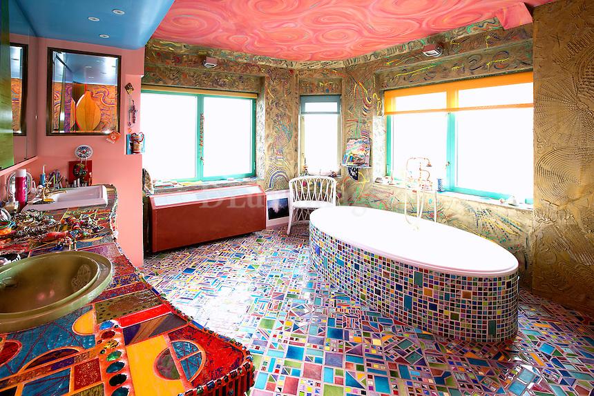 funky colorful floor tiles