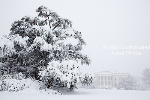 Snow blankets the White House grounds during a blizzard Saturday, February 6, 2010.  .Mandatory Credit: Pete Souza - White House via CNP