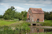 Hartpury Mill on river Leadon, Highleadon, Gloucestershire.