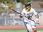 Tustin, CA 04/23/16 - Jared Copeland (Foothill #24) in action during the non-conference CIF varsity lacrosse game between La Costa Canyon and Foothill at Tustin Union High School.  Foothill defeated La Costa Canyon 10-9 in sudden death overtime.