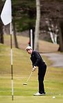 WATERTOWN,  CT-041119JS11-  Torrington's Jon Nedda chips to the pin during their match with Watertown Thursday at Crestbrook Park in Watertown. <br /> Jim Shannon Republican American