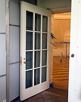 Protective outer door leading to the Oval Office in the White House West Wing in Washington, DC as it is undergoing renovations while United States President Donald J. Trump is vacationing in Bedminster, New Jersey on Friday, August 11, 2017.  <br /> Credit: Ron Sachs / CNP /MediaPunch