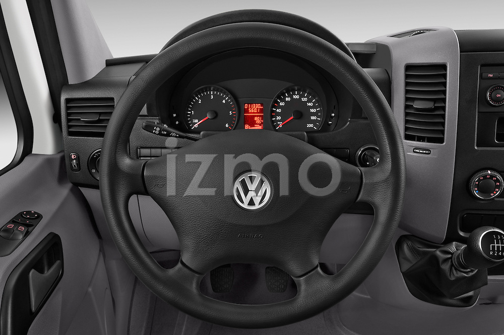 Car pictures of steering wheel view of a 2014 Volkswagen CRAFTER 2.0TDI 4 Door Cargo Van Steering Wheel
