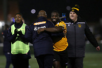 Maidstone celebrate their victory at the final whistle during Maidstone United vs Torquay United, Emirates FA Cup Football at the Gallagher Stadium on 9th November 2019