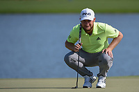 Tyrrell Hatton (ENG) lines up his putt on 6 during round 2 of the Arnold Palmer Invitational at Bay Hill Golf Club, Bay Hill, Florida. 3/8/2019.<br /> Picture: Golffile | Ken Murray<br /> <br /> <br /> All photo usage must carry mandatory copyright credit (&copy; Golffile | Ken Murray)