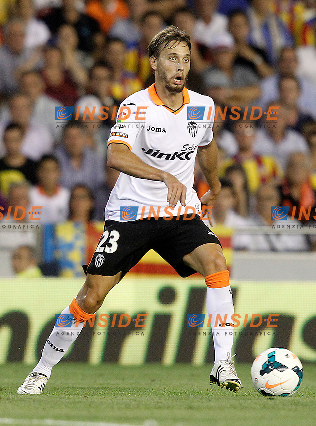 Valencia's Sergio Canales during La Liga match.September 1,2013. (ALTERPHOTOS/Acero) <br /> Football Calcio 2013/2014<br /> La Liga Spagna<br /> Foto Alterphotos / Insidefoto <br /> ITALY ONLY