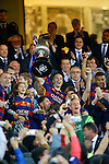 FC Barcelona's team celebrates the victory in the Spanish Kings Cup Final match. May 22,2016. (ALTERPHOTOS/Acero)