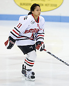 Rachel Llanes (NU - 11) - The Northeastern University Huskies defeated the Union College Dutchwomen 4-1 on Saturday, October 3, 2009, at Matthews Arena in Boston, Massachusetts.