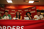 """Jason Tam, Brittany Underwood, Robin Strasser will be reading passages Red Carpet Riot by """"David Van Etten"""" who is actually three writters: Emmy-winning OLTL scribe Chris Van Etten and his friends David Levithan and David Ozanich on August 15, 2009 at Borders, Time Warner Center Mall, New York City, New York. (Photo by Sue Coflin/Max Photos)"""