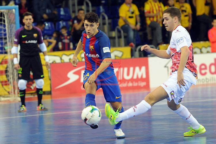 League LNFS 2016/2017 - Game 8.<br /> FC Barcelona Lassa vs ElPozo Murcia: 2-3.<br /> Roger Serrano.