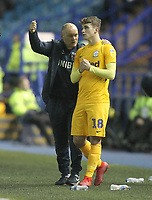 Preston North End's Manager Alex Neil instructs Ryan Ledson<br /> <br /> Photographer Mick Walker/CameraSport<br /> <br /> The EFL Sky Bet Championship - Sheffield Wednesday v Preston North End - Saturday 22nd December 2018 - Hillsborough - Sheffield<br /> <br /> World Copyright &copy; 2018 CameraSport. All rights reserved. 43 Linden Ave. Countesthorpe. Leicester. England. LE8 5PG - Tel: +44 (0) 116 277 4147 - admin@camerasport.com - www.camerasport.com