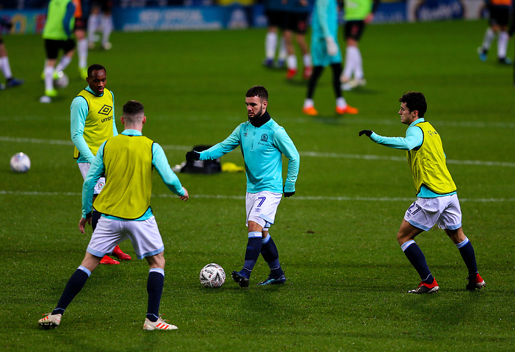 Blackburn Rovers' Adam Armstrong warms up before the match<br /> <br /> Photographer Alex Dodd/CameraSport<br /> <br /> Emirates FA Cup Third Round Replay - Blackburn Rovers v Newcastle United - Tuesday 15th January 2019 - Ewood Park - Blackburn<br />  <br /> World Copyright &copy; 2019 CameraSport. All rights reserved. 43 Linden Ave. Countesthorpe. Leicester. England. LE8 5PG - Tel: +44 (0) 116 277 4147 - admin@camerasport.com - www.camerasport.com