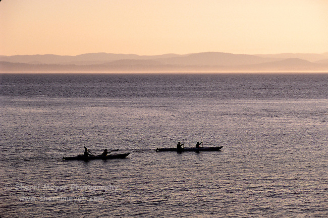 Sea Kayakers off San Juan Island Washington
