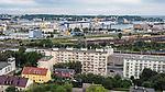 Panorama Gdyni, widok na port i morze
