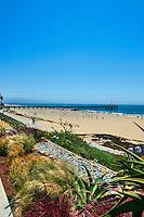 Manhattan Beach CA, Walk Streets, Luxury Strand Oceanfront Houses, Ocean Friendly Garden, Pier