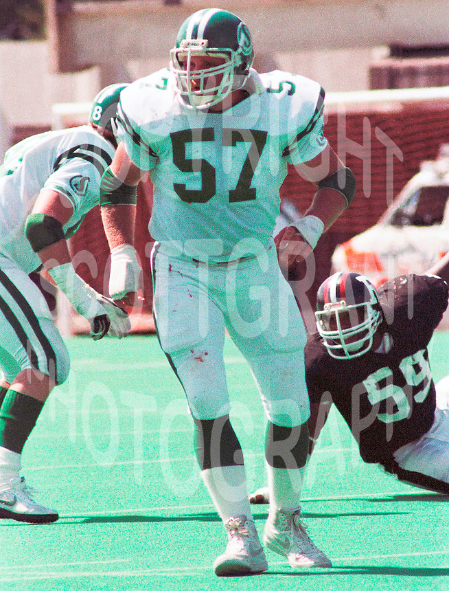 Bob Poley Saskatchewan Roughriders 1983. Copyright photograph Scott Grant