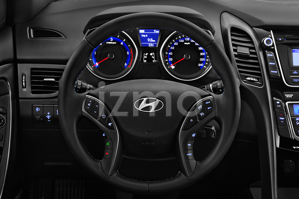 Car pictures of steering wheel view of a 2015 Hyundai I30 Go 5 Door Wagon Steering Wheel