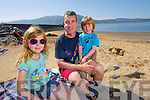 Keeva, Kieran and Oscar Corcoran, Barrow, Tralee, having fun in the sun at Fenit beach on Tuesday.