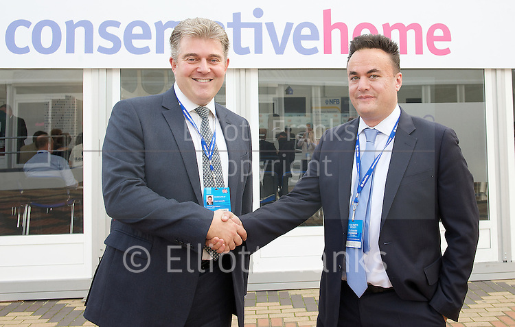 Conservative Party Conference <br /> ICC, Birmingham, Great Britain <br /> Sunday 28th September 2014 <br /> <br /> NHBC &amp; National Federation of Builders fringe meeting with Brandon Lewis MP minister for Housing &amp; Planning <br /> <br /> Photograph by Elliott Franks <br /> Image licensed to Elliott Franks Photography Services