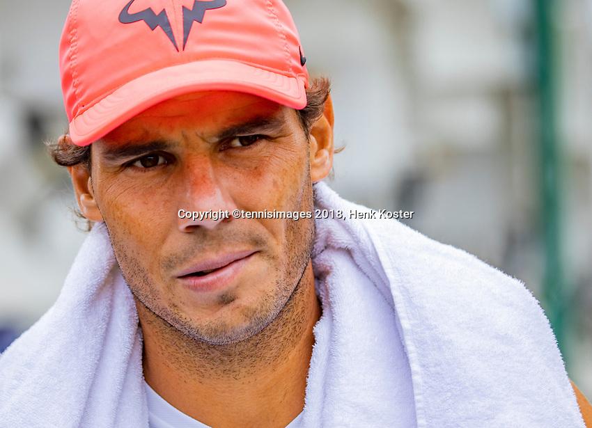 London, England, 10 th. July, 2018, Tennis,  Wimbledon, Rafael Nadal (ESP)<br /> Photo: Henk Koster/tennisimages.com