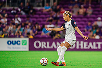 Orlando, FL - Wednesday May 23, 2018:  Jaelene Hinkle, Orlando Pride vs North Carolina Courage at Orlando City Stadium.