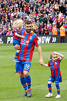 James McArthur of Crystal Palace and his daughters during the EPL - Premier League match between Crystal Palace and West Bromwich Albion at Selhurst Park, London, England on 13 May 2018. Photo by Carlton Myrie / PRiME Media Images.