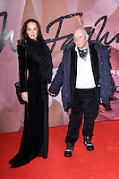 Catherine and David Bailey<br /> at the Fashion Awards 2016, Royal Albert Hall, London.<br /> <br /> <br /> &copy;Ash Knotek  D3210  05/12/2016