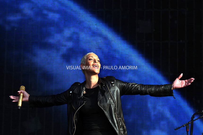 Tipical music Fado singer Mariza  performs on stage during  Rock in Rio festival at Bela Vista park in LIsbon,Portugal  on 21 May 2010.