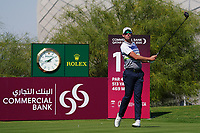Alexander Bjork (SWE) on the 18th during Round 1 of the Commercial Bank Qatar Masters 2020 at the Education City Golf Club, Doha, Qatar . 05/03/2020<br /> Picture: Golffile | Thos Caffrey<br /> <br /> <br /> All photo usage must carry mandatory copyright credit (© Golffile | Thos Caffrey)