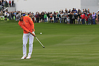 Rickie Fowler (USA) on the 16th green during the final round of the Waste Management Phoenix Open, TPC Scottsdale, Scottsdale, Arisona, USA. 03/02/2019.<br /> Picture Fran Caffrey / Golffile.ie<br /> <br /> All photo usage must carry mandatory copyright credit (&copy; Golffile | Fran Caffrey)