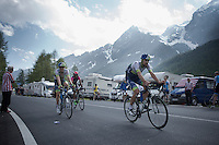Luke Durbridge (AUS/Orica-GreenEDGE) & Sam Bewley (NZL/Orica-GreenEDGE) rolling into the last stretch towards the finish<br /> <br /> Giro d'Italia 2015<br /> stage 19: Gravellona Toce - Cervinia (236km)
