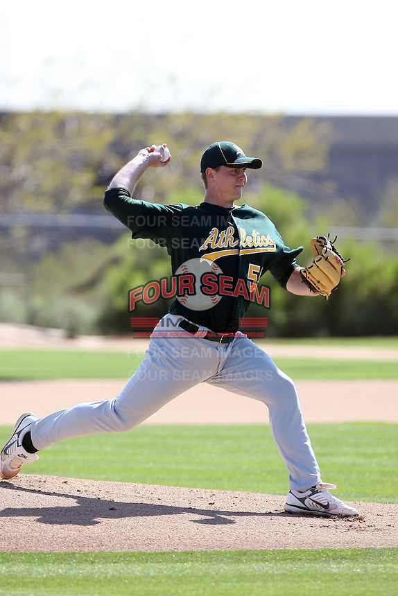 Kenny Smalley, Oakland Athletics 2010 minor league spring training..Photo by:  Bill Mitchell/Four Seam Images.