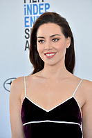 SANTA MONICA, CA. February 23, 2019: Aubrey Plaza at the 2019 Film Independent Spirit Awards.<br /> Picture: Paul Smith/Featureflash