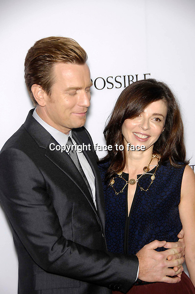 Ewan McGregor and Eve Mavrakis during the premiere of the new movie from Summit Entertainment THE IMPOSSIBLE, held at Arclight Cinerama Dome, Los Angeles, California, 10.12.2012...Credit: StarMaxInc/face to face..- Spain, Hungary, Bulgaria, Croatia, Russia, Romania and Moldavia, Slovakia, Slovenia, Bosnia & Herzegowina, Serbia, Ukraine and Belaurus, Lithuania, Latvia and Estonia, Australia, Taiwan, Singapore, China, Malaysia and Thailand rights only -