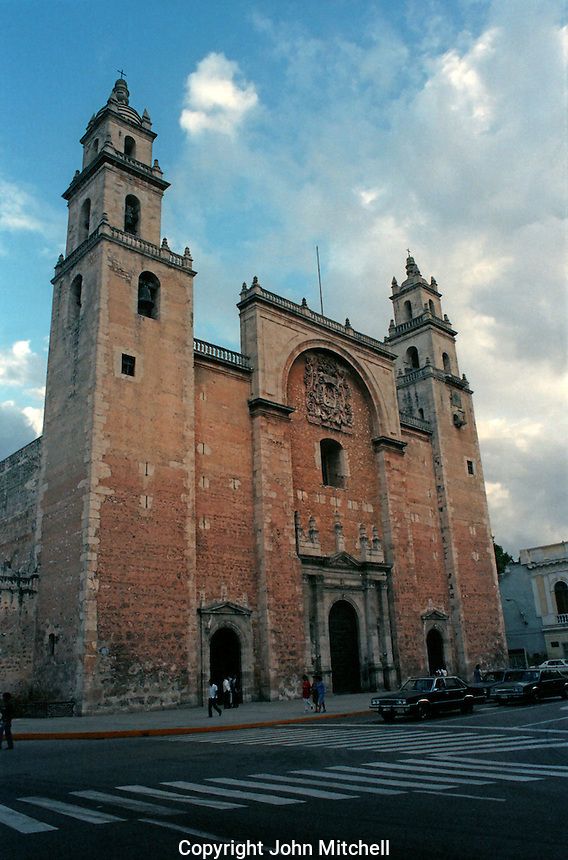 The 16th century Spanish colonial cathedral in Merida, Yucatan, Mexico