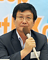 Tokyo, Japan, September 7, 2011 : Tae Jin Kim attends the inaugural conference of international coalition to stop crimes against humanity in North Korea in Tokyo, Japan, on September 7, 2011. (Photo by AFLO)