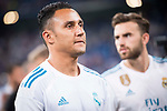 Real Madrid's Keylor Navas during XXXVIII Santiago Bernabeu Trophy at Santiago Bernabeu Stadium in Madrid, Spain August 23, 2017. (ALTERPHOTOS/Borja B.Hojas)